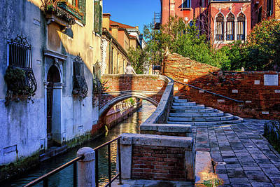 Photograph - Staircase To Bridge In Venice_dsc1642_03012017 by Greg Kluempers