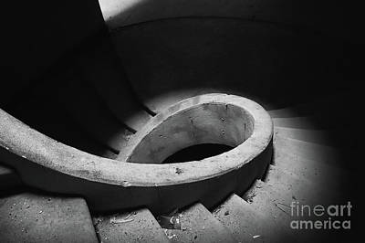 Stairs Abandoned Hotel Art Print