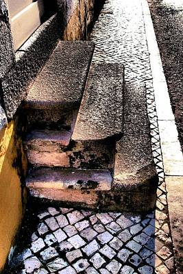 Photograph - Stairs And Cobblestones by Dora Hathazi Mendes