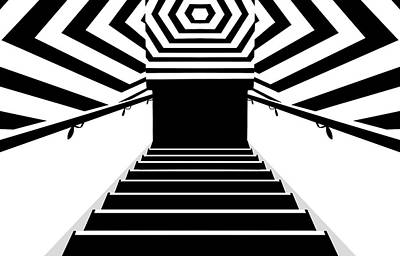 Photograph - Stairs And Stripes 2 by Nikolyn McDonald