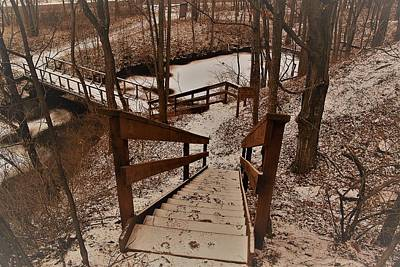 Photograph - Stairs And Winter by Gerald Salamone