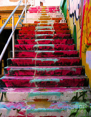 Paint Photograph - Stairs by Angela Wright