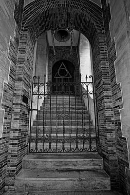 Stairs Beyond B-w Print by Christopher Holmes