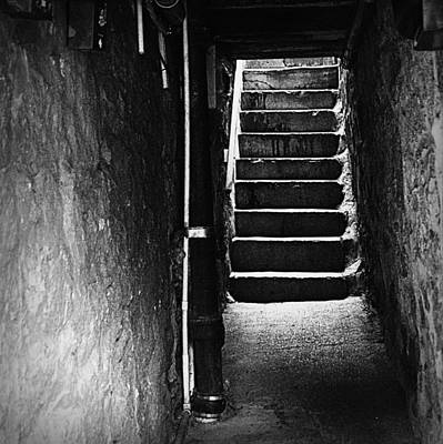 Photograph - Stairs - Black And White by Joseph Skompski