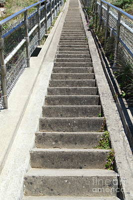 Photograph - Stairs Coming Down To The Point Reyes Lighthouse In California 7d16018 by San Francisco