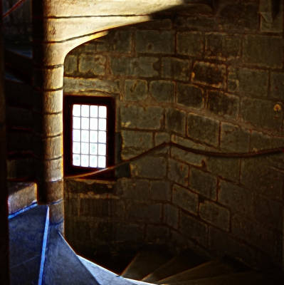 Stone Photograph - Stairs From The Castle Keep by Hugh Smith