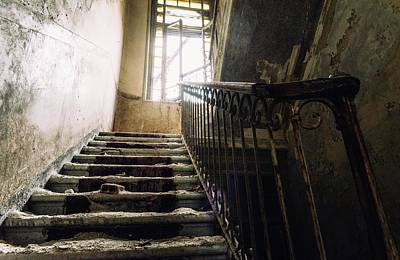 Stairs In Haunted House Art Print