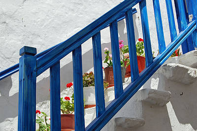 Stairs In Mykonos Art Print by Armand Hebert