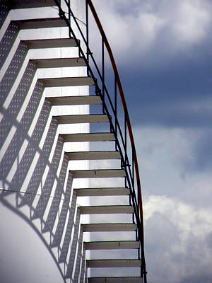 Stairs In The Sky Art Print