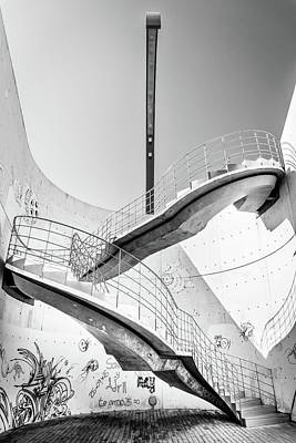 Photograph - Stairs Lamp Graffiti by Gary Gillette