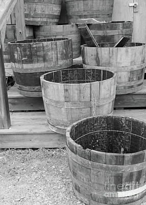 Photograph - Stairs Of Barrels by Nina Silver