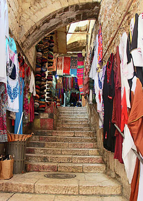 Photograph - Stairs Shops by Munir Alawi