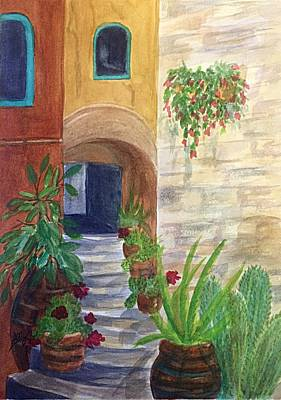 Painting - Stairs Through The Arch Southwest by Ellen Levinson