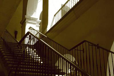 Stairs To 2nd Floor Art Print by Nicholas J Mast