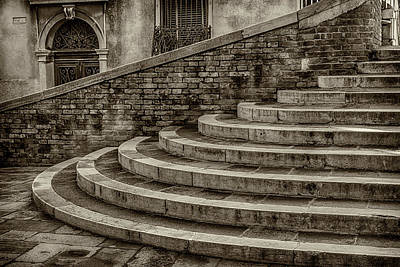 Photograph - Stairs To Canal Bridge Venice_dsc1637_03012017  by Greg Kluempers