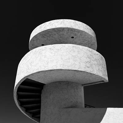 Spiral Photograph - Stairs To Nowhere by Dave Bowman
