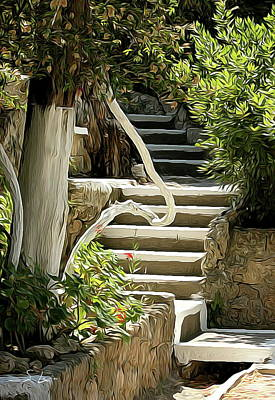 Digital Art - Stairs Up by S Art