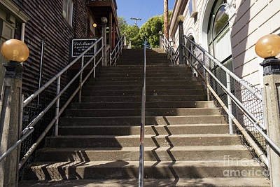 Photograph - Stairs Walkways And Passages Of Sausalito California Dsc6007 by Wingsdomain Art and Photography