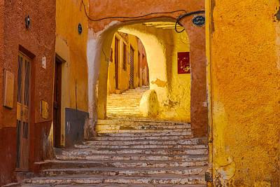 Photograph - Stairway Inside Beni Isguen by Judith Barath