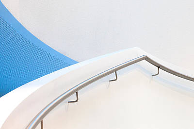 Stairs Photograph - Stairs With Blue by Jeroen Van De Wiel