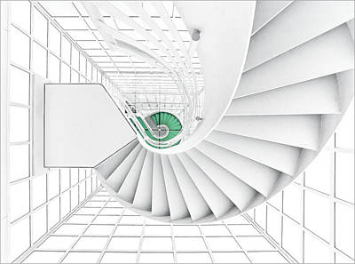 Stairs Photograph - Stairs_2_kinemathek by Herbert A. Franke
