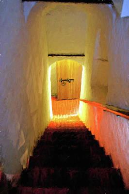 Digital Art - Stairway - 2 by OLena Art Brand