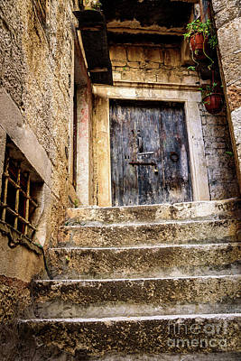 Photograph - Stairway And Door To Trogir, Qarth In Game Of Thrones, Croatia by Global Light Photography - Nicole Leffer