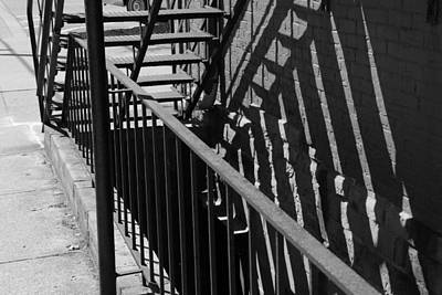 Just Desserts - Stairway and Shadows B W by Jeff Roney