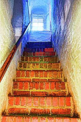 Digital Art - Stairway by OLena Art Brand