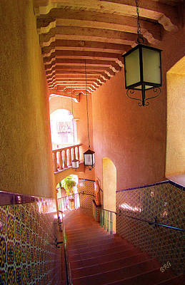 Tlaquepaque Photograph - Stairway by Ben and Raisa Gertsberg