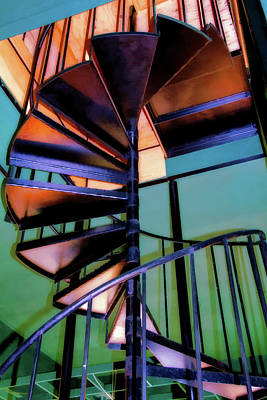 Walkway Digital Art - Stairway Bright by Terry Davis