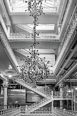 Photograph - Stairway - Chandelier by Nikolyn McDonald