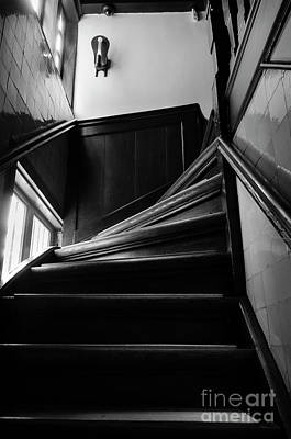 Art Print featuring the photograph Stairway In Amsterdam Bw by RicardMN Photography