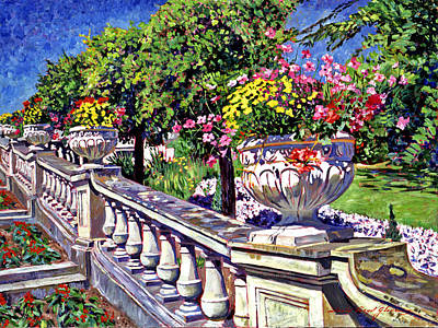 Victoria Painting - Stairway Of Urns by David Lloyd Glover