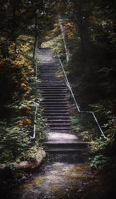 Outdoor Digital Art - Stairway by Scott Norris
