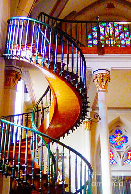Miraculous Digital Art - Stairway To Heaven by Ann Johndro-Collins