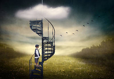 Stairway To Heaven. Art Print by Ben Goossens