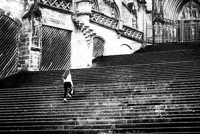 Street Black White Photograph - Stairway To Heaven by Frank Andree