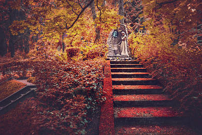 Eerie Photograph - Stairway To Heaven In Riga Latvia  by Carol Japp