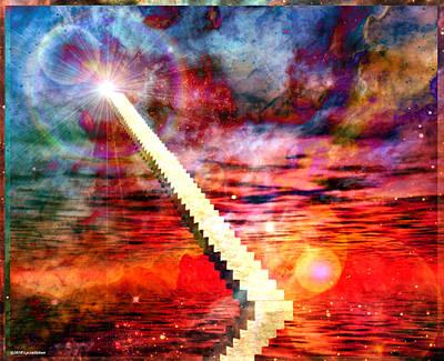 Meditative Digital Art - Stairway To Heaven by RP Callahan