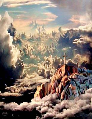 Jesus In Clouds Painting - Stairway To Heaven by Ron Chambers