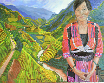 Hmong Painting - Stairway To Heaven by Thu Nguyen