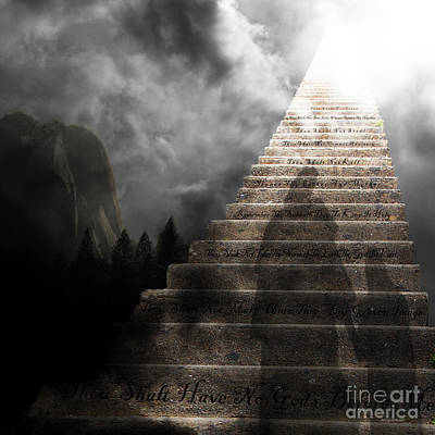 Stairway To Heaven V2 Square Print by Wingsdomain Art and Photography