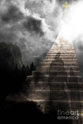 Stairway To Heaven V2 Print by Wingsdomain Art and Photography