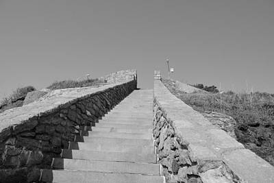 Photograph - Stairway To The Sky Monochrome by Michael Scott
