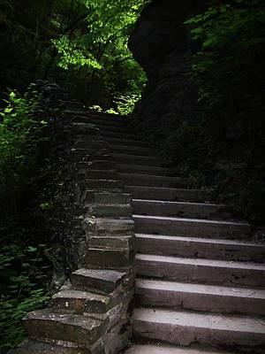 Stairway Watkins Glen 1  Art Print by InTheSane DotCom