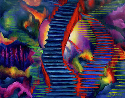 Digital Art - Stairways by Joe Baltich