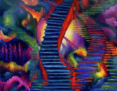 Stairways Art Print