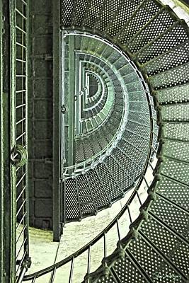 Photograph - Stairwell Currituck Beach Lighthouse by Skip Tribby