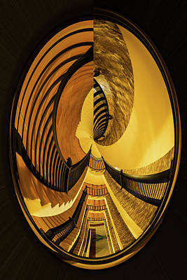 Photograph - Stairwell Distorted by Rick Strobaugh
